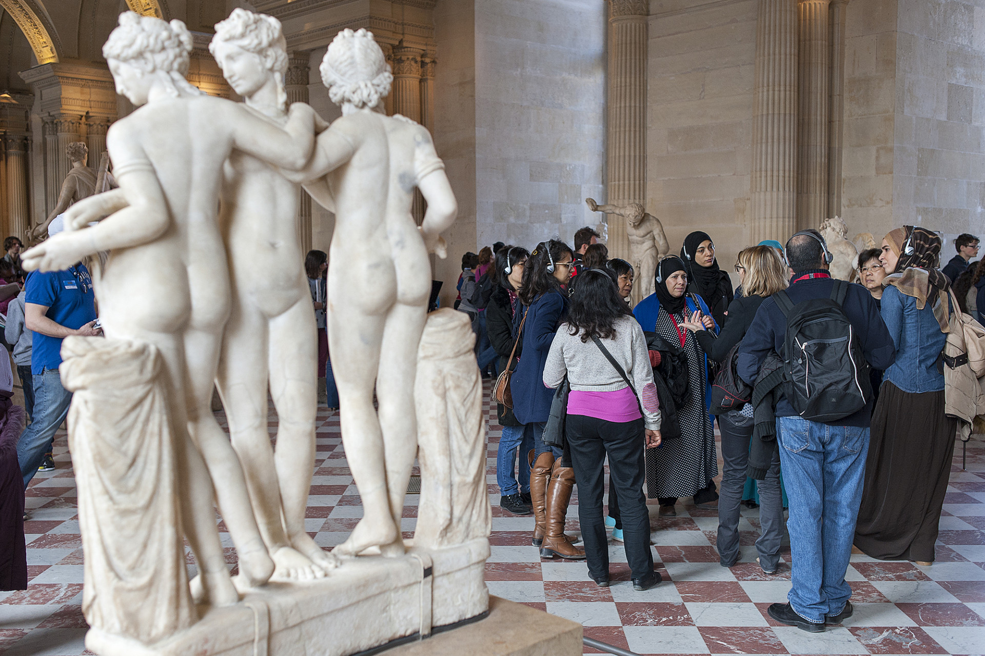 Visite du Louvre de l'association Les Monis