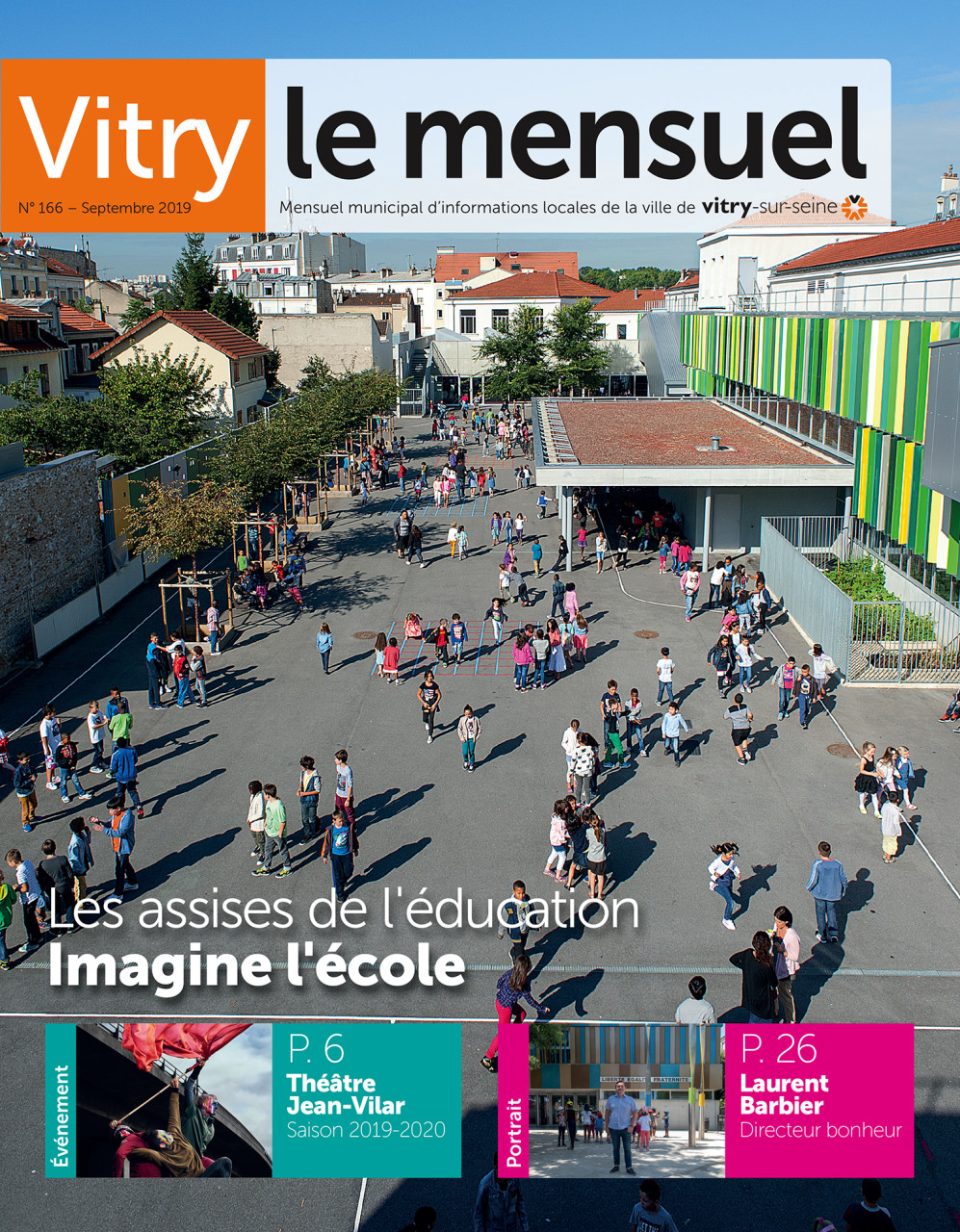 Parution en Une de Vitry Le Mensuel de septembre 2019 : Photo © Nicolas Wietrich