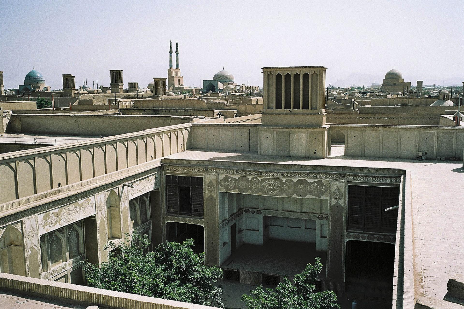 Des toits de Yazd