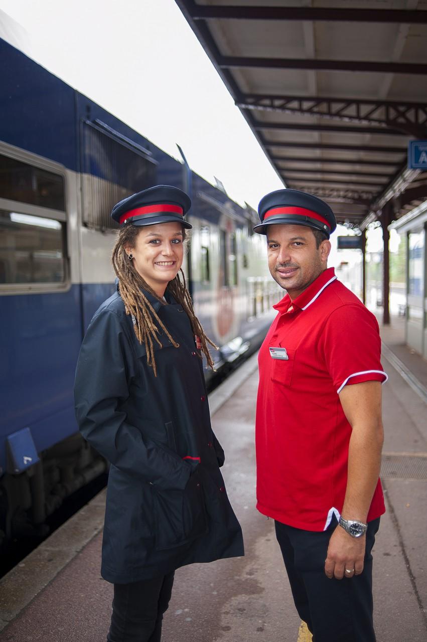 Portraits de voyageurs et d'agents