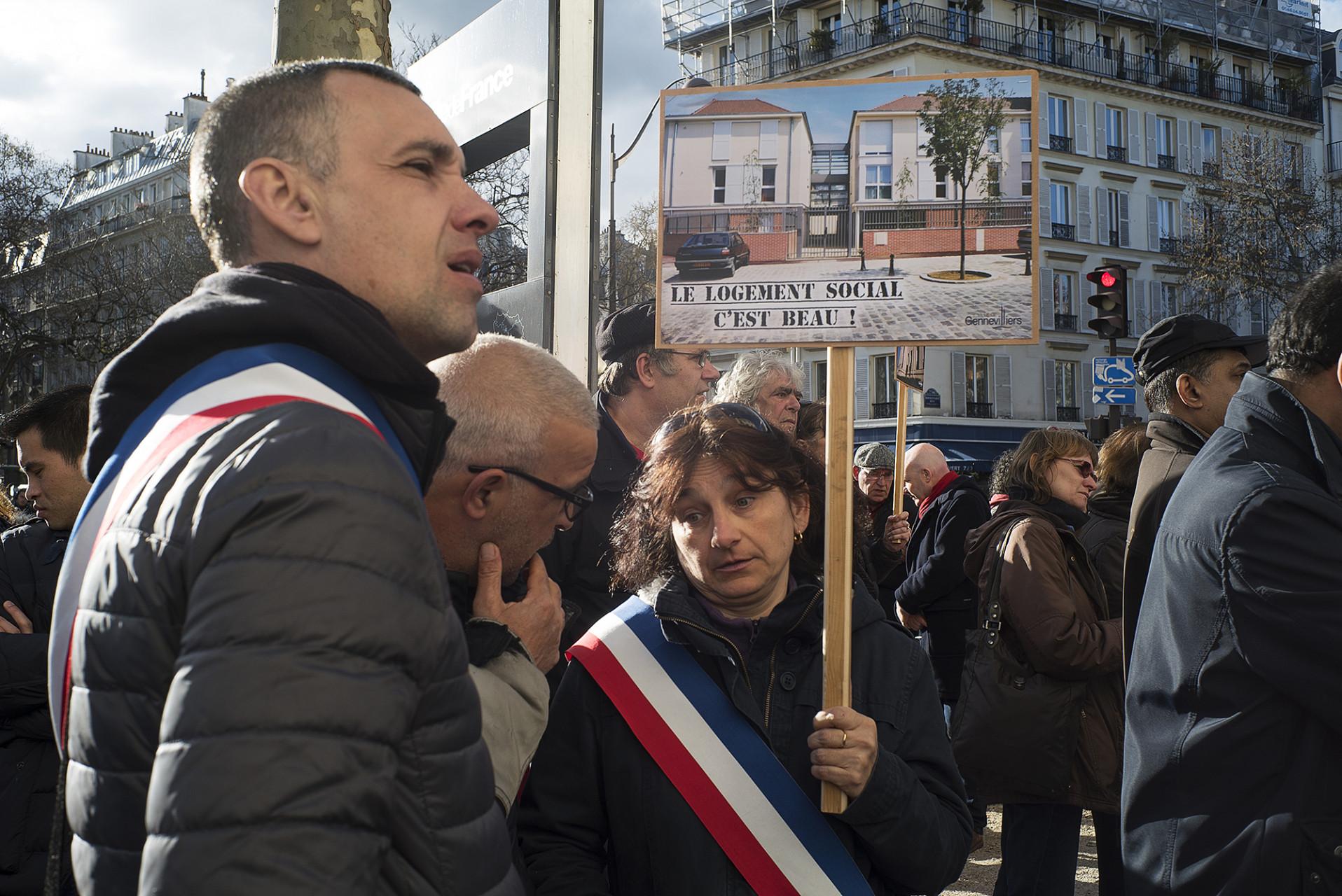 Manifestation pour le logement