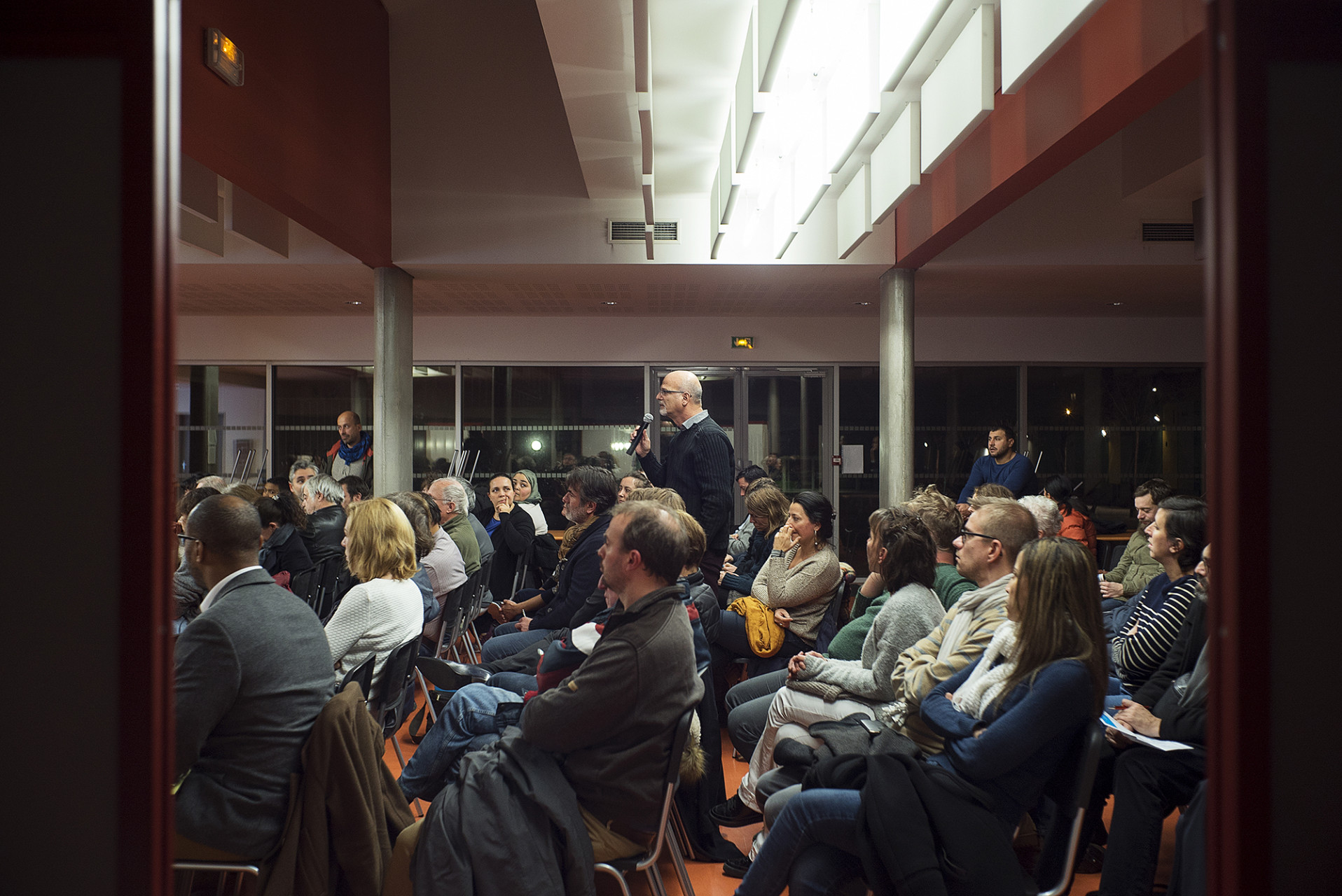 Reunion publique College Seine Gare Vitry