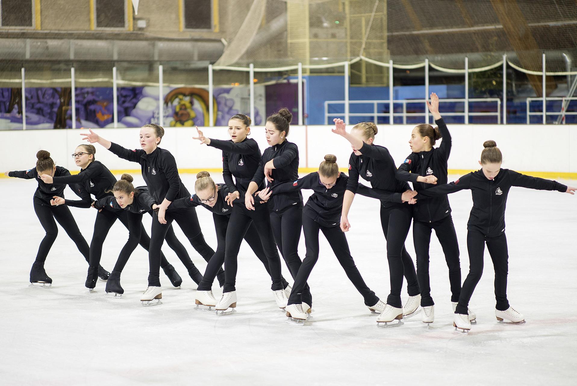 Entrainement patinoire equipe de Compiegne