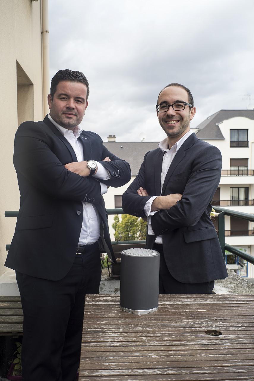 Julian Joumoulle et Maxime Estevao, dirigeants de la société Quos - Pour Noisy Mag - septembre 2017