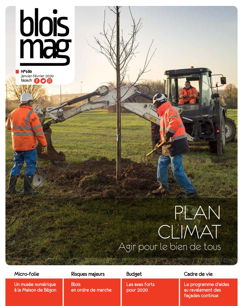 Parution en Une dans Blois Mag de janvier 2020 : Photo © Nicolas Wietrich