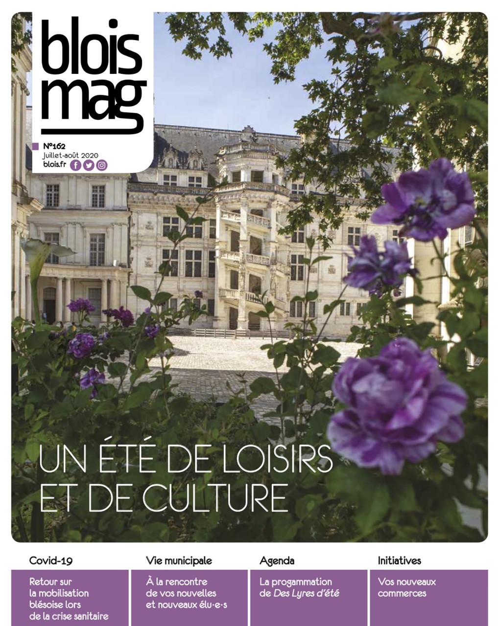 Parution en Une dans Blois Mag de juillet/août 2020 : Photo © Nicolas Wietrich