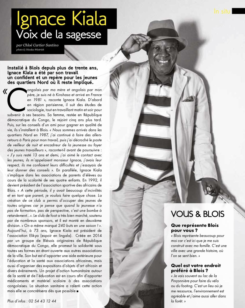 Parution dans Blois Mag de novembre 2020 : Texte Chloé Cartier-Santino. Photo © Nicolas Wietrich
