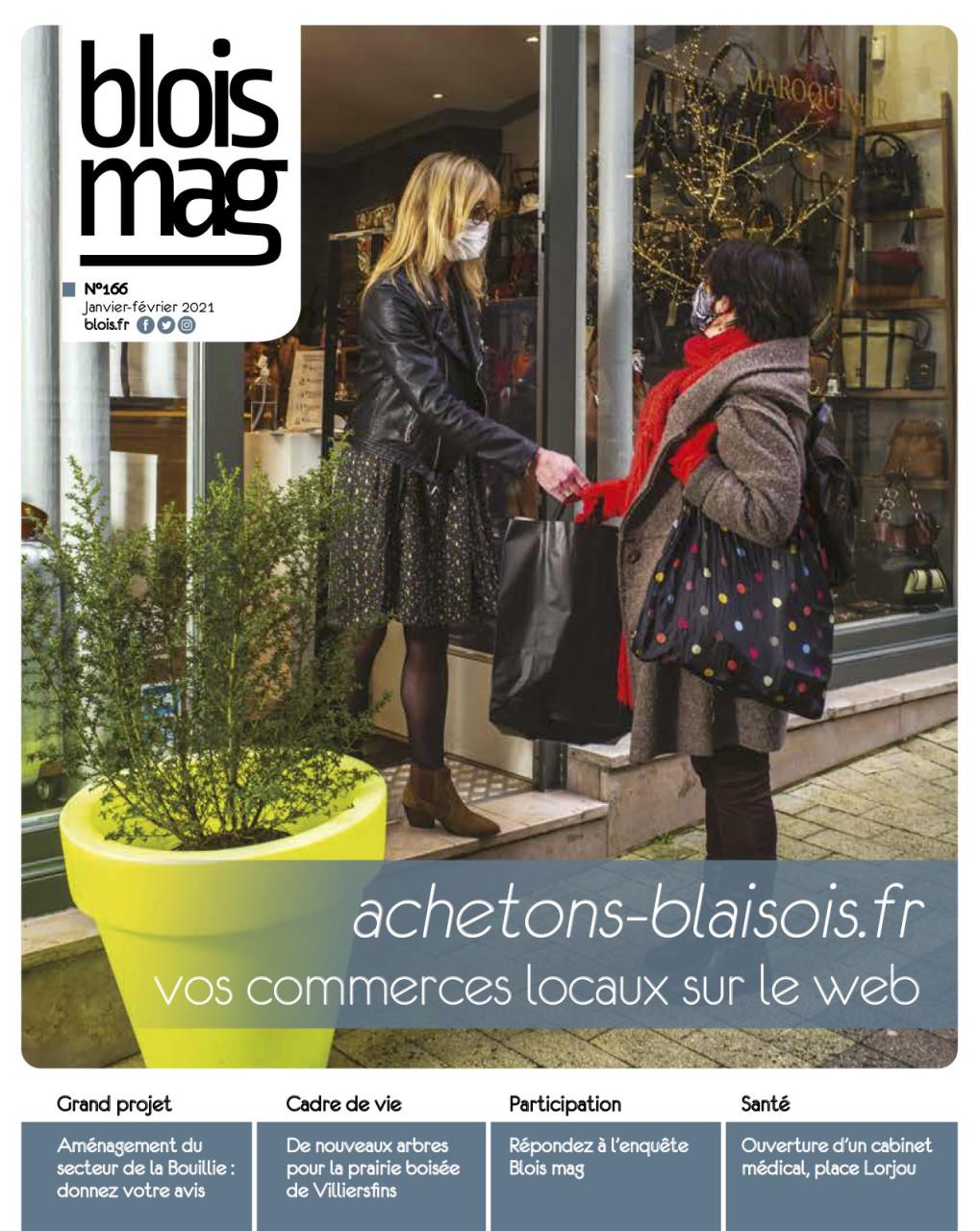 Parution en Une dans Blois Mag de janvier et février 2021 : Photo © Nicolas Wietrich