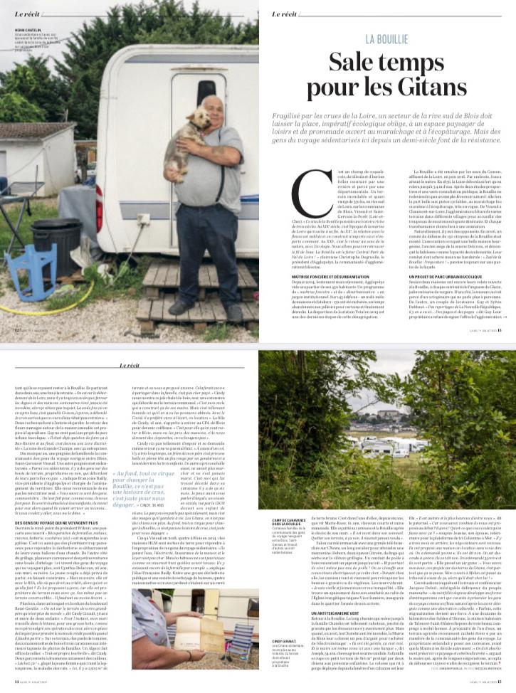 Parution dans La Vie du 01 au 07 juillet 2021 : Récit Jordan Pouille. Photos Nicolas Wietrich.