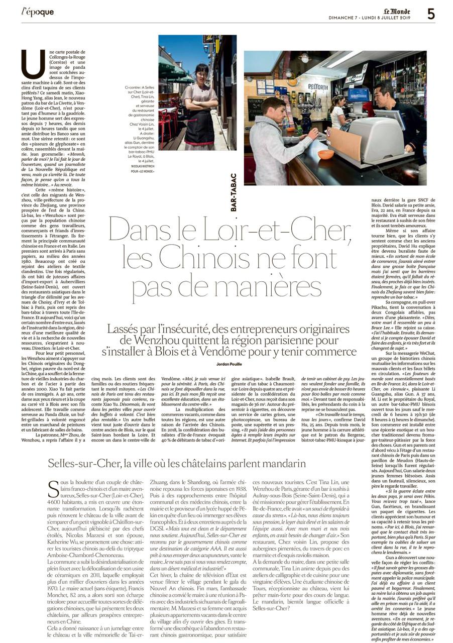 """Parution dans le supplément L'Époque du Monde du 07 et 08 juillet 2019 : Texte Jordan Pouille. Photos Nicolas Wietrich pour """"Le Monde""""."""