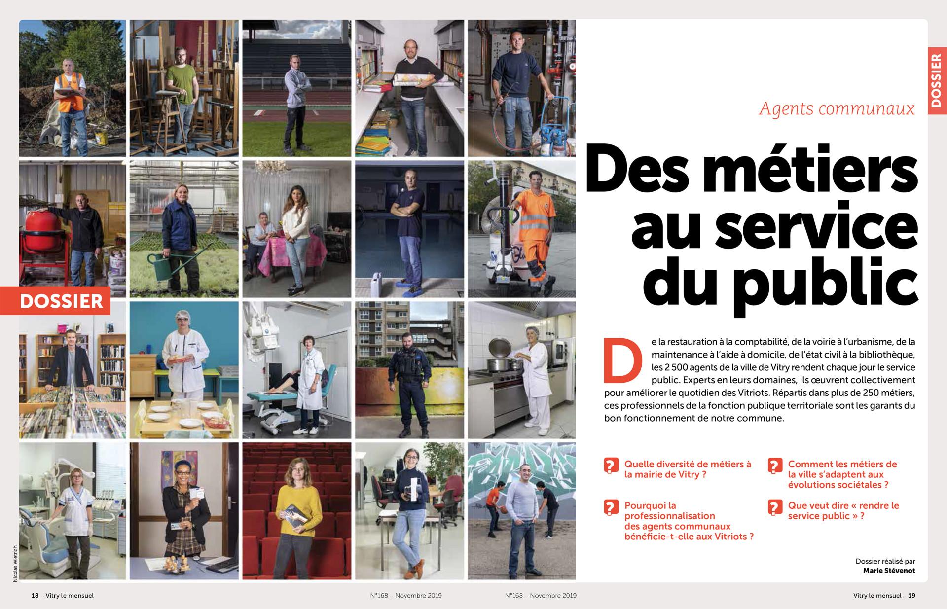Parution dans Vitry Le Mensuel de novembre 2019 : Texte Marie Stévenot. Photos © Nicolas Wietrich (les 10 du haut) et © Sylvain Lefeuvre (les 10 du bas)
