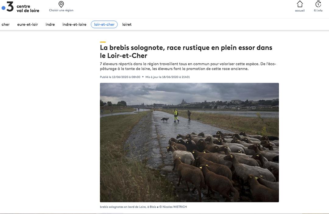 Publication web France3 du 12 juin 2020 : Photo © Nicolas Wietrich