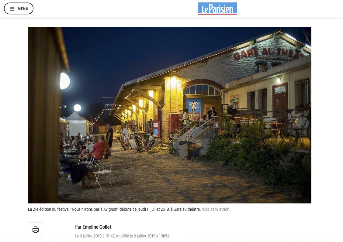 Publication web leparisien.fr du 08 juillet 2019 : Photo © Nicolas Wietrich